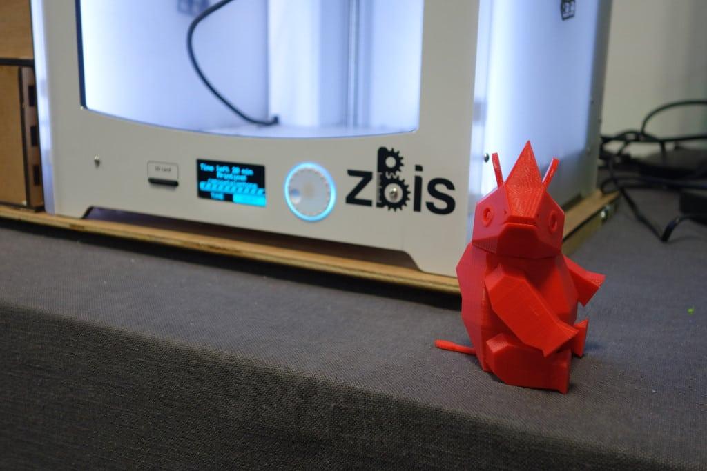 Un petit Rhino à imprimer et à monter dont le modèle peut être téléchargé ici