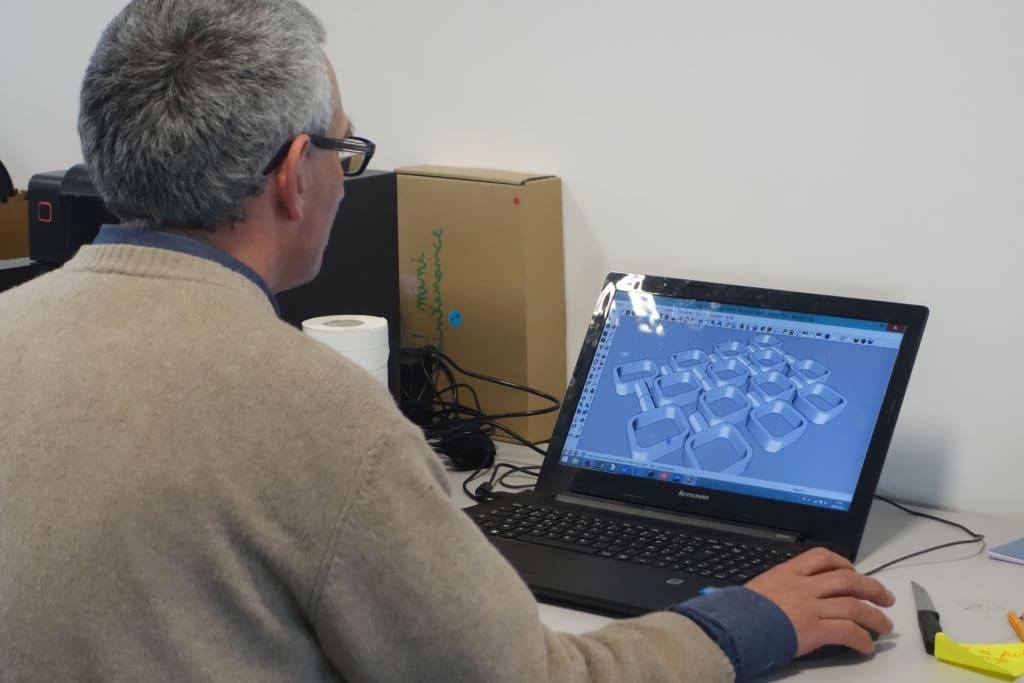 Pour réaliser ses pièces, Jean-Noël utilise le logiciel de modélisation 3D Sketchup