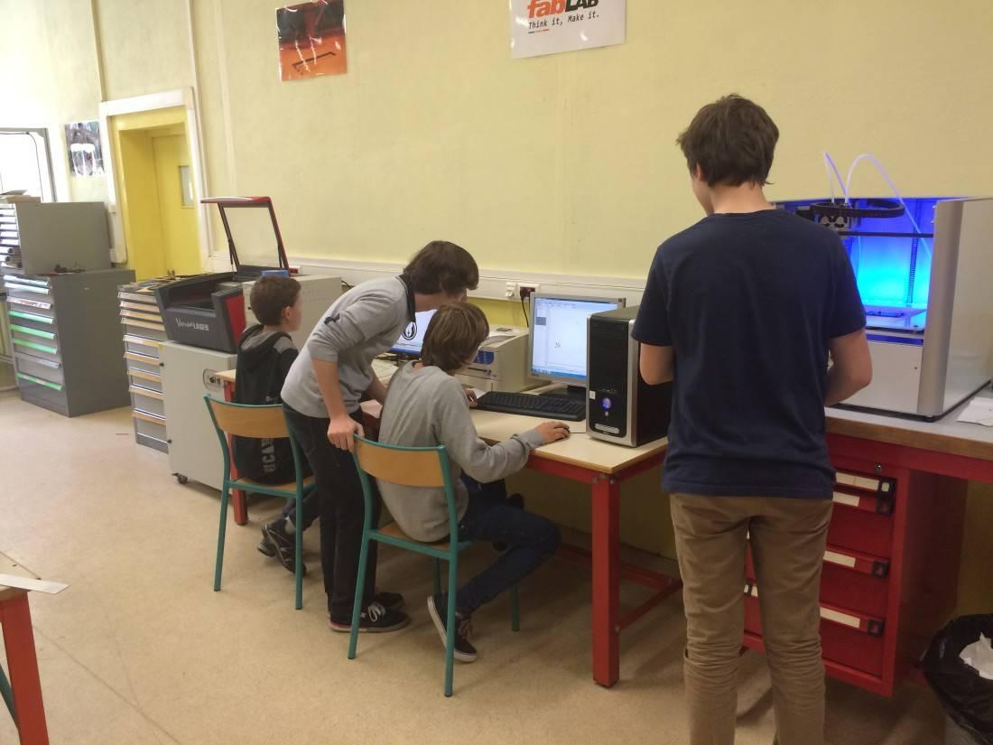 Des élèves de Saint-Gabriel investissent le Gab'Lab.